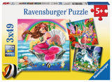 Ravensburger Fantasy Friends - 3 x 49 pc Puzzles