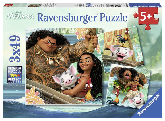 Ravensburger Disney Moana Born to Voyage - 3 x 49 pc Puzzles