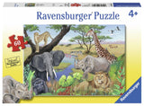 Ravensburger Safari Animals - 60 pc Puzzles