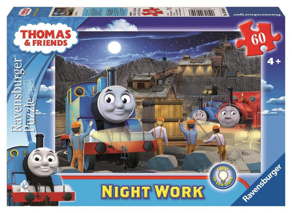 Ravensburger Thomas Night Work - 60 pc Puzzles Glow-in-the-Dark