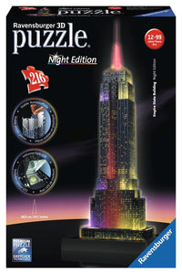 Ravensburger 3D Empire State Building Night Edition - 216 pc puzzle-buildings