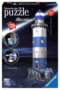 Ravensburger 3D Lighthouse Night Edition - 216 pc puzzle-buildings