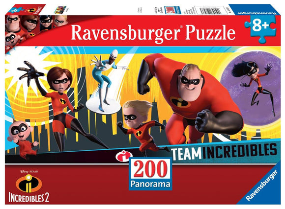 Ravensburger Incredibles 2 - 200 pc Panorama Puzzles