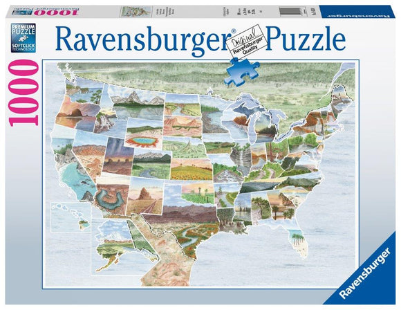 Ravensburger From Sea to Shining Sea - 1000 pc Puzzle