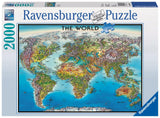 Ravensburger World Map - 2000 pc Puzzles