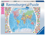 Ravensburger Political World Map  - 1000 pc Puzzles