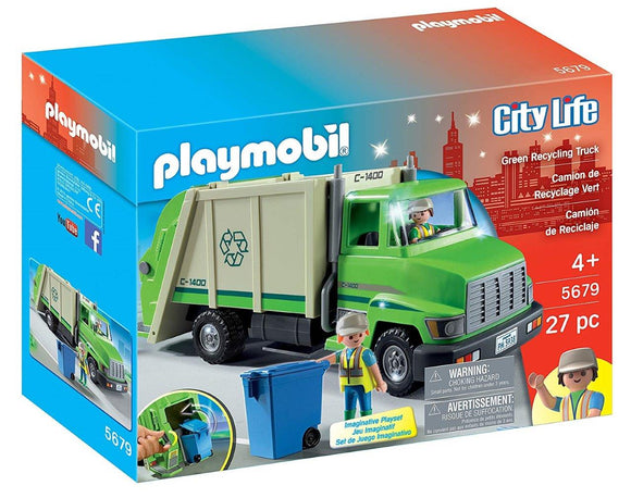 Playmobil Green Recycling Truck 5679