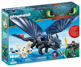 Playmobil Hiccup and Toothless with Baby Dragon 70037