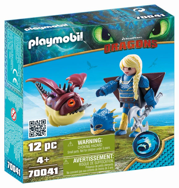 Playmobil Astrid with flight suit and Hobgobbler 70041