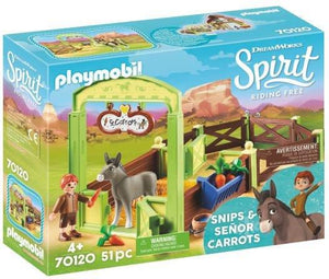 Playmobil Snips & Señor Carrots with Horse Stall 70120