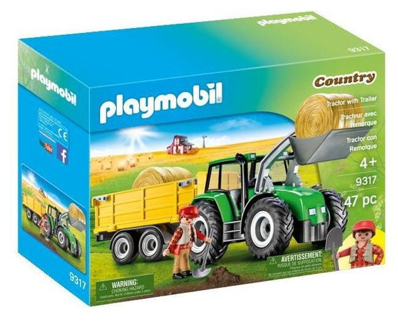 Playmobil Tractor with Trailer 9317