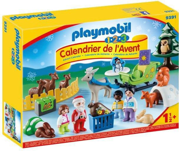 Playmobil 1.2.3 Advent Calendar - Christmas in the Forest 9391