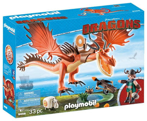 Playmobil Snotlout and Hookfang 9459