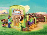 Playmobil Pru & Chica Linda with Horse Stall 9479