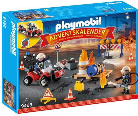 Playmobil Advent Calendar - Construction Site Fire 9486