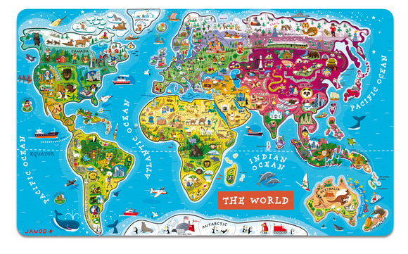 Magnetic World Puzzle - English