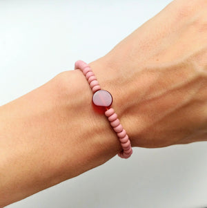 Karneol Armband rot & pastell rosa