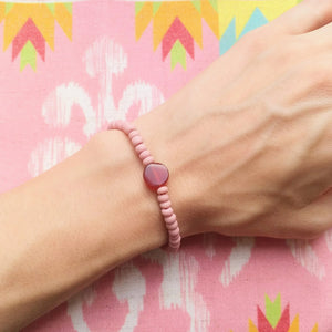 Karneol Armband rot pastell rosa