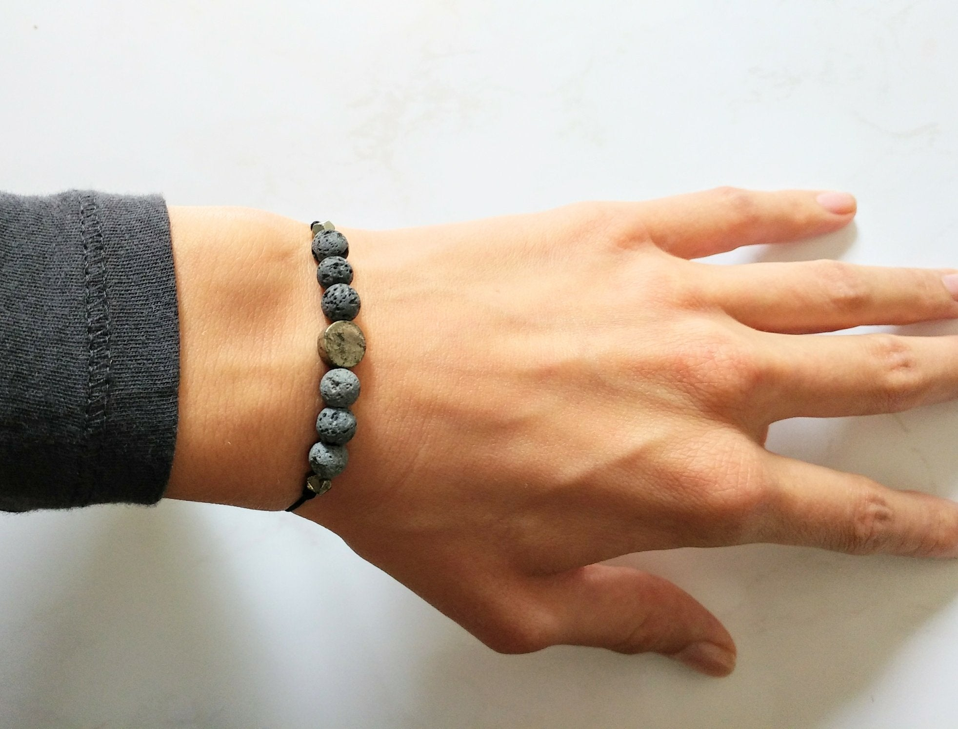 Pyrit & Lava Armband | Aroma Diffuser Armband | pia norden