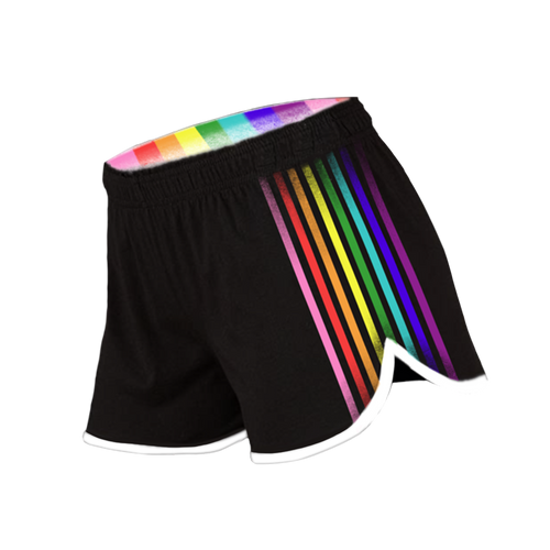 Thomas Sanders Could Be Gayer Rainbow Gym Shorts