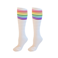 Load image into Gallery viewer, Thomas Sanders  Rainbow White Socks