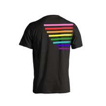 Load image into Gallery viewer, Thomas Sanders  Could Be Gayer Rainbow Black Tee