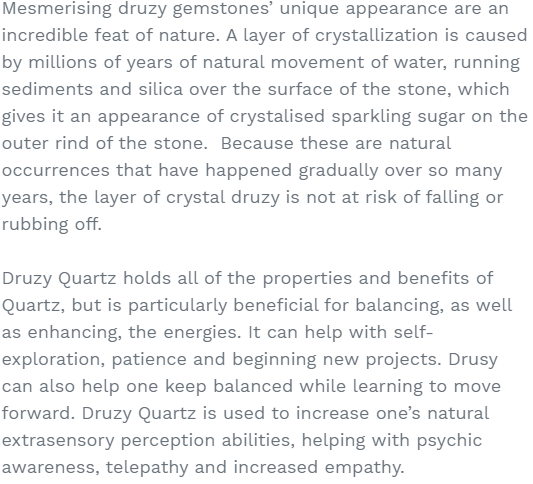 drusy stone benefits crystal