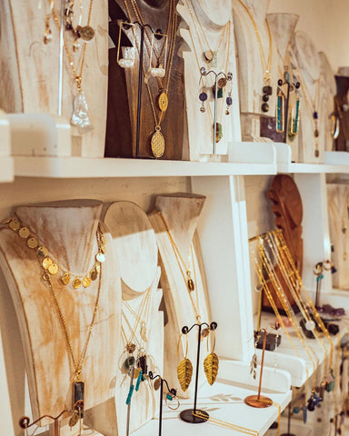 handmade jewellery and crystals shop in brixton village called full moon designs