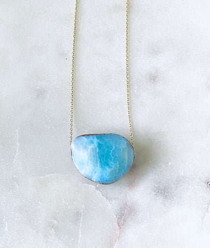 Blue Agate Gold necklace