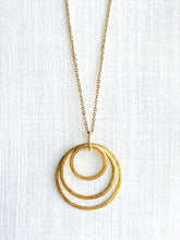 Load image into Gallery viewer, Gold Necklace - Full Moon Designs