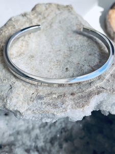 Silver Bangle  view from the top- Full Moon Designs