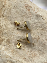 Load image into Gallery viewer, Drusy (White) Gold on Silver Studs - Full Moon Designs
