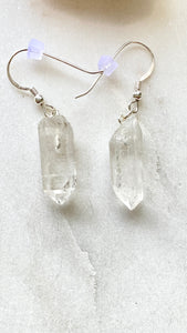 Quartz  Sterling Silver Earrings.