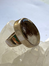 Load image into Gallery viewer, Quartz (Lens) Sterling Silver Ring - Full Moon Designs