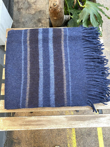 Recycled Wool Blankets with Stripes - Full Moon Designs