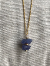 Load image into Gallery viewer, Tanzanite Gold filled Necklace - Full Moon Designs