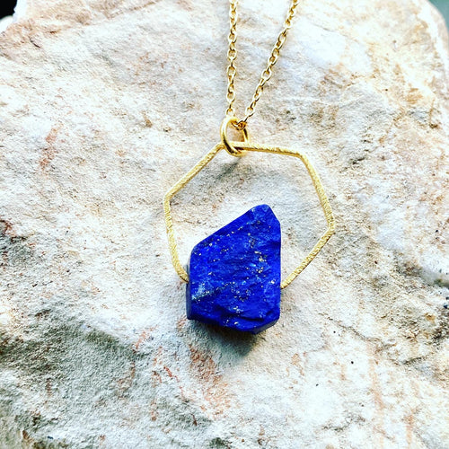 Lapis Lazuli Upright Necklace Hand made