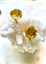 Load image into Gallery viewer, Opalite Brass Earrings
