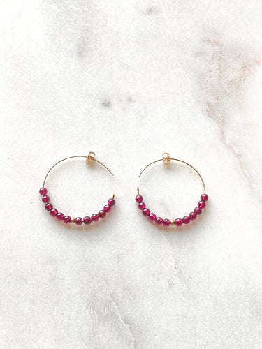 Garnet Goldfilled Earrings