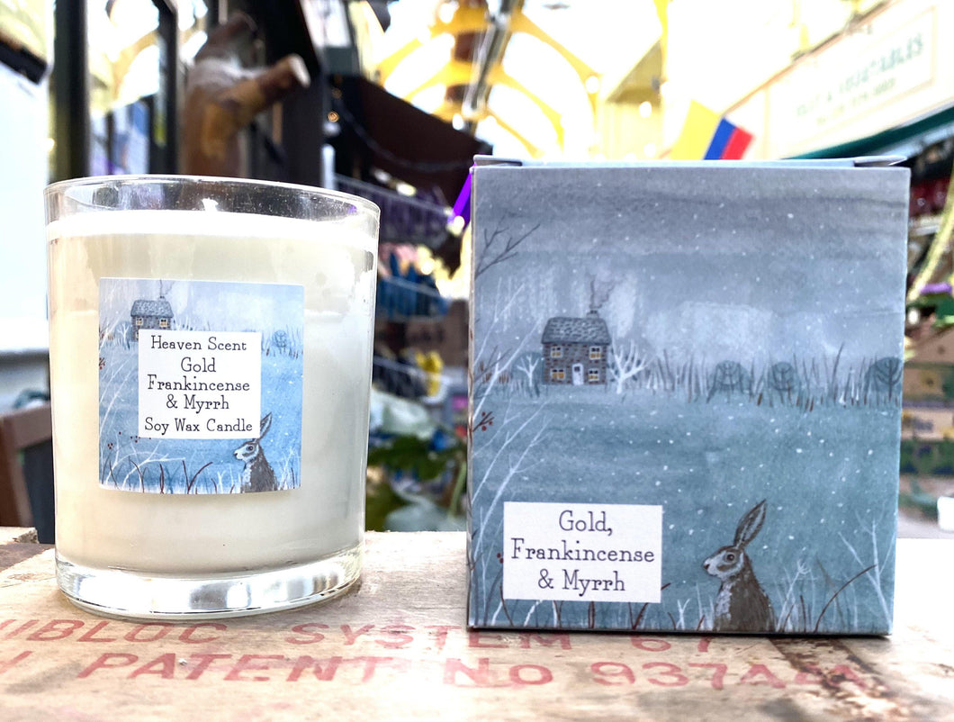 Candle -Vegan - Gold Frankincense and Myrrh - Full Moon Designs
