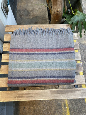 Recycled Wool Blanket Stripes
