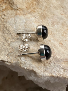 Onyx (Black) Sterling Silver Studs - Full Moon Designs