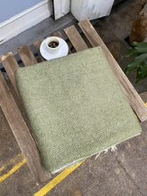 Load image into Gallery viewer, Recycled Wool Blanket. Herringbone. - Full Moon Designs