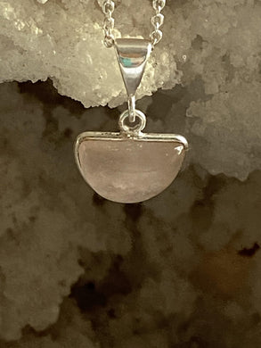 Rose Quartz Sterling Silver Necklace - Full Moon Designs