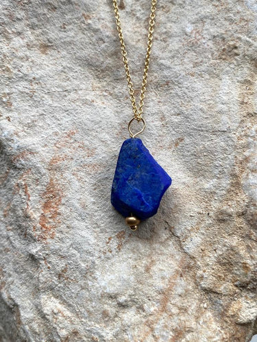 Lapis Lazuli Goldfilled Necklace - Full Moon Designs