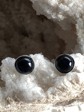 Load image into Gallery viewer, Onyx (Black) Sterling Silver Studs - Full Moon Designs