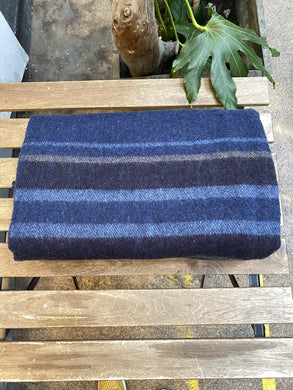 Recycled Wool Blankets with Stripes