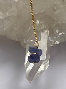 Tanzanite Gold filled Necklace - Full Moon Designs