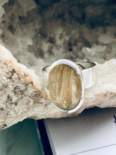 Load image into Gallery viewer, Quartz (Rutilated) Sterling Silver Ring - Full Moon Designs