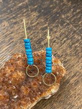 Load image into Gallery viewer, Turquoise Brass Earrings - Full Moon Designs